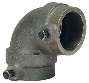 Gruvlok 1-1/4 in. Sock-It Cast Iron 90 Degree Elbow G7100