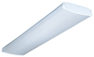 Lithonia Lighting 48 in 64W 2-Light Fluorescent Medium Bi-Pin T8 Linear Ceiling Fixture in White LLB232MVOLTGEB10IS