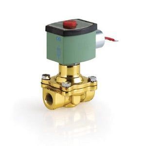 Asco Pneumatic Controls Red Hat® 8210 Series 115V Solenoid Valve 150 psi 7-5/16 in. Brass A8210G100 at Pollardwater