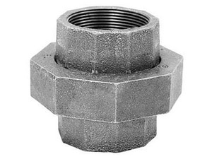 150# Ground Joint Galvanized Malleable Iron Union G150U