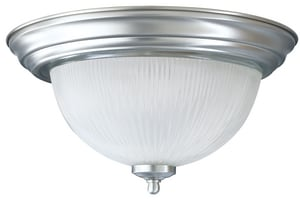 Mirabelle® Key West 7-1/4 in. 60 W 2-Light Medium Flush in Polished Nickel MIRBRKWFMLGT