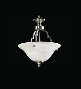 Quorum International Coventry 60 W 2-Light Medium Ceiling in Satin Nickel Q21565