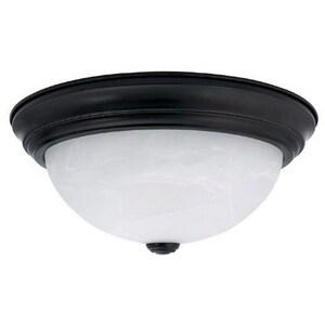 Capital Lighting Fixture 5-1/2 x 11 in. 60 W 2-Light Medium Flush Mount Ceiling Fixture in Matte Black C2711MB