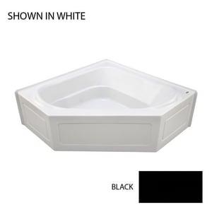 JACUZZI® Capella® 55 x 55 in. Soaker Corner Bathtub in Black JCPS5555BCXXXXB