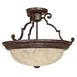 Capital Lighting Fixture 100 W 3-Light Semi-Flush Mount Ceiling Fixture in Tortoise C2737TS