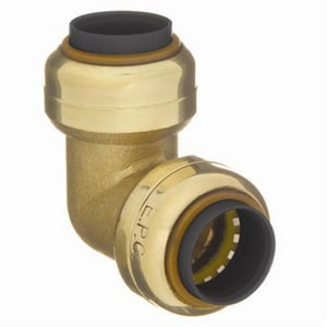 Elkhart Products Corporation 1/2 x 3/8 in. Copper Reducing Brass 90 Degree Elbow CT9LFDC