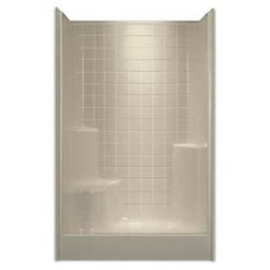 Aquarius Industries Luxury 48 x 48 in. Shower with Right Hand Seat in White AG4800SH1STILERWH