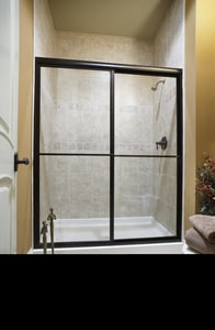 Basco Shower Enclosures Deluxe 71-1/2 x 60 in. Tub and Shower Door with Rain Glass in Silver B715060RN