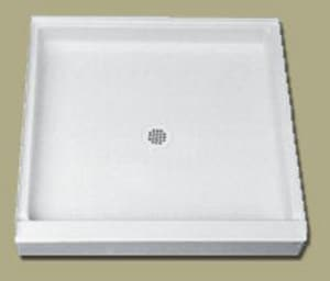 Florestone Saflor® 34 in. Square Shower Base in White F34341WH