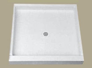 Florestone The Edge 42 x 34 in. Molded Shower Base White F42341WH