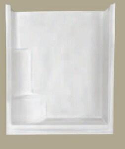 Florestone 60 x 35 x 73 in  Alcove Shower Unit in White - 60