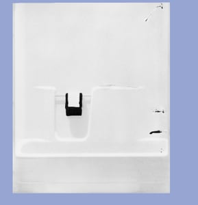 Georgia Bathware Atlantis 59-7/8 x 31-1/4 in. Alcove FRP and Acrylic Rectangle Tub and Shower Unit with Right Drain in Biscuit G56031R12