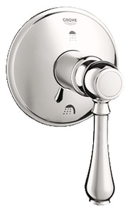 GROHE® Geneva™ Single Handle Bathtub & Shower Faucet in Sterling Infinity Trim Only G19220BE0