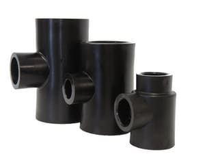 B & D Mfg. 1-1/4 x 3/4 x 3/4 in. Socket Fusion Reducing HDPE Tee PEIHSFTHFF