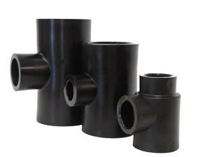 B & D Mfg. 1-1/4 x 1-1/4 x 3/4 in. Socket Fusion Reducing HDPE Tee BSPT664