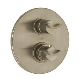 Fortis Roma Thermostatic Valve Trim with Double Knob Handle in Brushed Nickel F7369000BN
