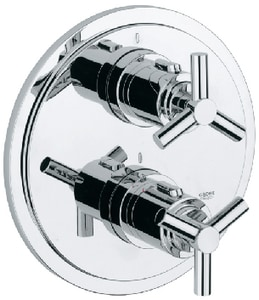 GROHE Atrio® Thermostatic Valve Trim with Double Spoke Handle in Starlight Polished Chrome G19167000