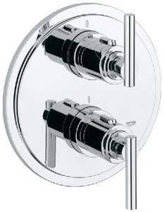 GROHE Atrio® Thermostatic Valve Trim with Double Lever Handle in Starlight Polished Chrome G19168000
