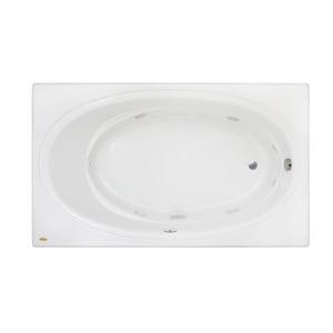 Jacuzzi Nova™ 72 x 42 in. Acrylic Rectangle Skirted Whirlpool Bathtub with Left Drain and J2 Basic Control JNOV7242WLR2XX