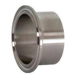 Dixon Valve & Coupling 1-1/2 in. Butt Weld x OD Tube 304L Stainless Steel Long Ferrule DL14AM7G150
