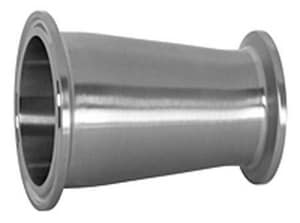 Topline Process Equipment 2 x 1-1/2 in. Clamp Polished 304L Stainless Steel Reducer T3114MP4