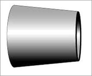 Topline Process Equipment 2 x 1-1/2 in. Butt Weld 316L Stainless Steel Concentric Reducer TL3176
