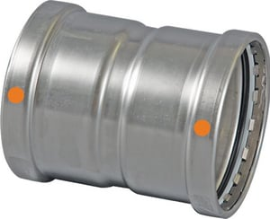 Viega 4 in. Press 304L Stainless Steel Coupling with Stop V8530