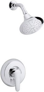 Kohler July™ 2 gpm Pressure Balancing Bath and Shower Faucet with Single Lever Handle and Diverter Spout in Polished Chrome KT98007-4-CP
