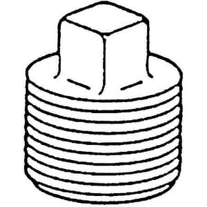 1/8 in. 150# 304L Stainless Steel Threaded Square Plug DS4BSTSPSP114A