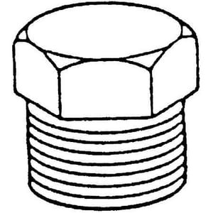 1/4 in. Threaded 150# 304 Stainless Steel HEX Plug DS4BSTHPSP114B