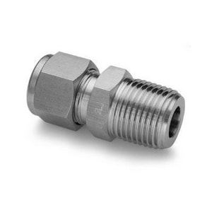 3/8 x 1/4 in. Male Threaded 316L Stainless Steel Adapter H768LSSCB