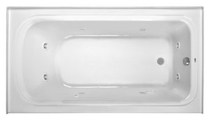 PROFLO® Plus Series 66 x 36 in. Whirlpool Alcove Bathtub Right Drain in Biscuit PFW6636ARSKBS