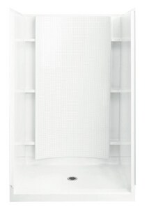 Sterling Accord® 48 x 36 in. Vikrell Tile Alcove Shower with Place Backers in White S722601060