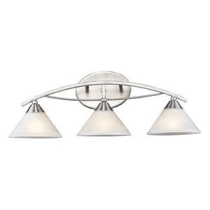 ELK Lighting Elysburg 60 W Elysburg 3-Bulb Medium Bracket in Satin Nickel E76323