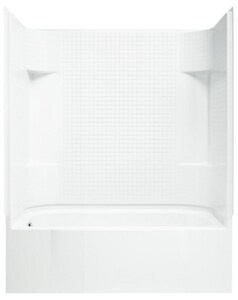 Sterling Accord® 60 x 30 in. Vikrell Left Hand Drain Tub and Shower in White S711401120