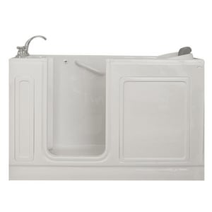 Safety Tubs 37 x 60 x 32 in. Acrylic Walk-In Air Massage Tub with Left Hand Drain in White SST6032177LA