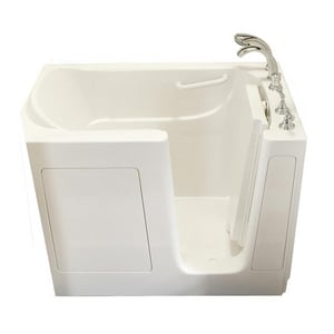 Safety Tubs 38 x 54 x 38 in. Gelcoat Walk-In Dual Massage Tub with Right Hand Drain in Biscuit SSS5430RDBC