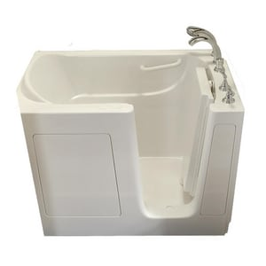 Safety Tubs 38 x 54 x 38 in. Gelcoat Walk-In Dual Massage Tub with Right Hand Drain in White SSS5430RDWH