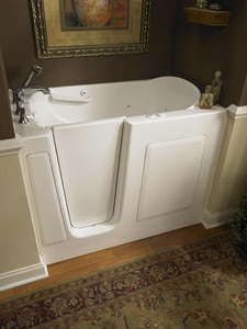 Safety Tubs 51 x 31 in. Walk-In Air Massage Bathtub with Left Hand Drain in Biscuit SSSV5131LABC