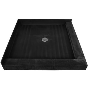 Tile Redi USA 42 x 42 in. Double Curb Shower Base with Center Drain T4242CDRPVC
