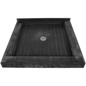 Tile Redi USA 42 x 42 in. Triple Curb Shower Base with Center Drain T4242CDTPVC