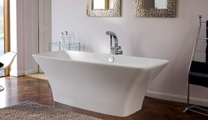 Victoria & Albert Bath Ravello 68 x 30 in. Double Ended Contemporary Tub in White VRAVNSW