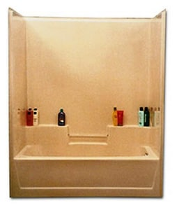 Warm Rain Embassy 60 x 32-1/2 in. Tub & Shower Unit with Left Drain in Biscuit WE45BI