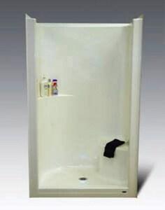 Warm Rain 48 x 36 x 79 in. Alcove Shower Unit in Biscuit WWR852BI