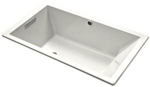Kohler Underscore® 66 x 36 in. Air Bath Drop-In Bathtub in White K1173-G-0