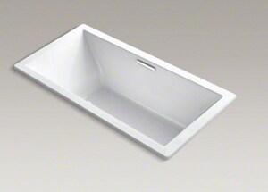 KOHLER Underscore® 72 x 36 in. Total Massage Drop-In Bathtub with Center Drain in White K1835-G-0