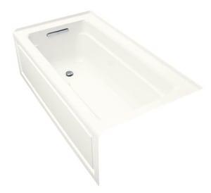Kohler Archer® 60 x 32 x 19 in Air Bath Alcove Bathtub in White K1122-GLA