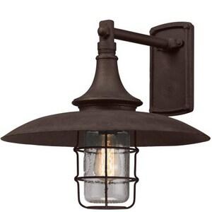 Troy-CSL Lighting Allegany 13-1/2 in. 60W 1-Light Medium E-26 Outdoor Wall Sconce in Centennial Rust TB3221