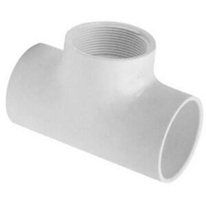 3/4 x 3/4 x 1/2 in. Socket x FIPT Reducing Schedule 40 PVC Tee S402101UV