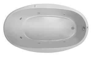 PROFLO® Lansford 70 x 40 in. Whirlpool Drop-In Bathtub with End Drain in White PFWPLUSA7040WH